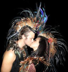 Amazing feather headdress