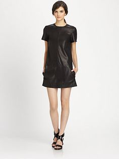 Theory - Eliora Ford Leather Dress Saks Fifth Avenue, Theory, Looks Great, Ford, Static Cling, Clothes For Women, Daughters, How To Wear, Leather