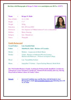 Resume Biodata for marriage images pics photo for girls and boys Resume Format Free Download, Biodata Format Download, Resume Template Free, Resume Pdf, Basic Resume, Simple Resume, Resume Tips, Professional Resume, Templates Free