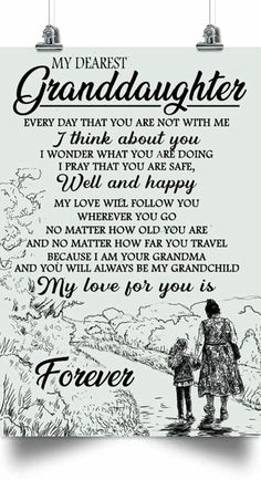Granddaughter Poster – My Dearest Granddaughter – I Think About You Well And Happy – Poster To My Granddaughter Granddaughter Gift Poster-Portrait I Think Of You, You And I, Love You, My Love, I Pray, I Am Happy, Grandchildren, Thinking Of You, Je T'aime