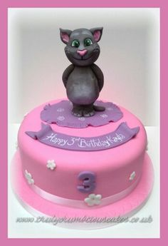Talking Tom cake Talking Tom Cat Bday Ideas Pinterest Cake