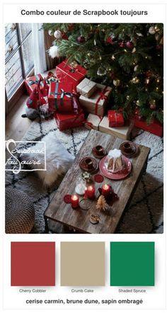#25 Combo COULEUR de Scrapbook toujours Cobbler, Stampin Up, Scrapbook, Christmas Tree, Holiday Decor, Home Decor, Teal Christmas Tree, Decoration Home, Room Decor