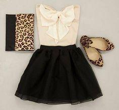 bows, black & leopard print