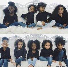 This is an adorable idea, and it shows part of the wide spectrum of beauty in black girls and women. Black Girls Rock, Black Kids, Black Girl Magic, Lil Black, Beautiful Black Babies, Beautiful Children, Cute Kids, Cute Babies, Curly Hair Styles