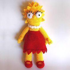 Muñeca Lisa Simpson Amigurumi - Patrón Gratis en Español aquí: http://www.patronesamigurumi.org/patrones-gratuitos/personajes/lisa-simpson/