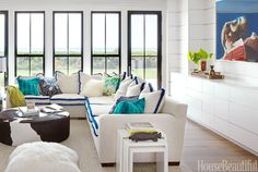 White Sofa Updates - Tricks with Rooms With White Couches - House Beautiful
