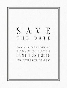 Classic Design - Save The Date.