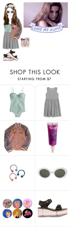 """""""Grabbed my hand, pushed me down, took the words right out my mouth"""" by victoria-mars ❤ liked on Polyvore featuring J.Crew, Napoleon Perdis, Retrò, JEM, Y.R.U., Fendi, lanadelrey and melaniemartinez"""