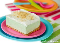 These Key Lime Cloud Squares are a refreshing treat for summer. No need to heat up your kitchen for a delicious dessert, let the freezer do the work! Lime Squares Recipes, Key Lime Squares, Lime Recipes, Sweet Recipes, Key Lime Bars, Lemon Squares, Bar Recipes, Granny Squares, Summer Recipes