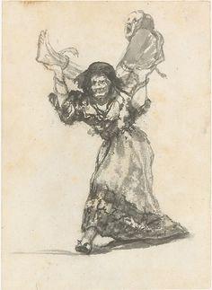 Goya (Francisco de Goya y Lucientes) (Spanish, 1746–1828). Unholy Union, ca. 1801–3 or ca. 1813–19. The Metropolitan Museum of Art, New York. Robert Lehman Collection, 1975 (1975.1.975) #Halloween