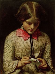 "John Everett Millais. ""The Violet's Message"""