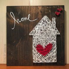 Home & Heart String Art von StringsbySamantha auf Etsy