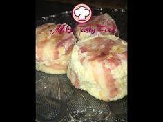 Tortino di cavolfiori e pancetta Detroit-style – Mike's Tasty FoodIngredientiGrammiOnce Cavolfiori28010 Formaggio piccante1003 1/2 Uova2 pezzi Pancetta arrotolata16 fette Sale, Pepequanto basta Preparazione:  Tagliare in piccoli pezzetti i cavolfiori. Bollirli per 5 minuti e lasciarli raffreddare. Frustare energicamente i cavolfiori spaccandoli, aggiungere il formaggio tagliate a piccoli pezzettini, uova, sale e pepe. Imburrare gli stampi e rivestirli con la pancetta. Riempire…