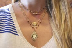 ExVoto Vintage Jewelry Layered Look #layering #vintagejewelry