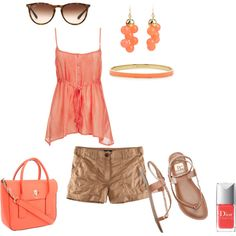 Coral, created by meecht94 on Polyvore