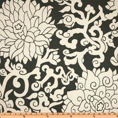 Thomas Paul Blossom Smoke - Discount Designer Fabric - Fabric.com