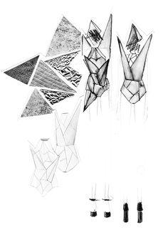 Silhouetten entwickeln – wie geht das? Ich erkläre euch anhand meiner Bewerbungsmappe für Mode Design wie ich vorgegangen bin, um neue, interessante Modeentwürfe zu kreieren. Hermine on walk |Mode Design | Silhouetten entwicklen | Sketchbook | Fashion Illustration | print | structure