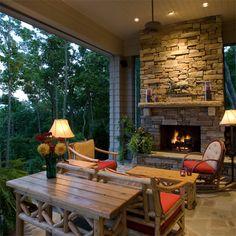 diy build outdoor fireplace