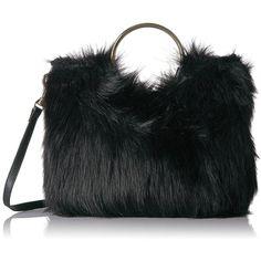 c37419c1a04e Metrekey Womens Fur Ball Purse Real Rabbit Fur Pompom Chain Handbags ($60)  ❤ liked