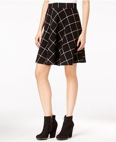 Maison Jules | Windowpane A-Line Skirt