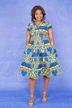 Flavour African Midi Dress-HouseOfSarah14 African Wear Dresses, African Attire, Blue Dresses, Casual Dresses, Summer Dresses, Midi Dresses, Mid Length Dresses, Short Sleeve Dresses, Business Dresses
