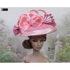 Chapeau Barbie capeline, casquette Fashion Royalty Silkstone Poppy Parker handmade by Accessoires Barbie, Poppy Parker, Poppies, Royalty, Crochet Hats, Rose, Handmade, Couture, Ebay