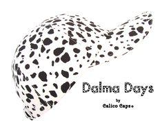 Dalma Days - Black & White Dalmatian Print Baseball Ball Cap - Ladies Womens Mens Adult Dog Spots Pattern Sports Fashion Hat by Calico Caps® Black Spot, Black And White, Florida Usa, Panama City, City Beach, Dalmatian, Sport Fashion, Printing On Fabric, Cap
