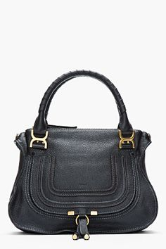 CHLOE Medium Black Leather Marcie Shoulder Bag $1795
