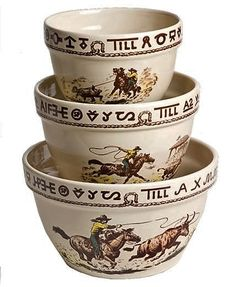 Western China Mixing Bowls - 3 pc Set