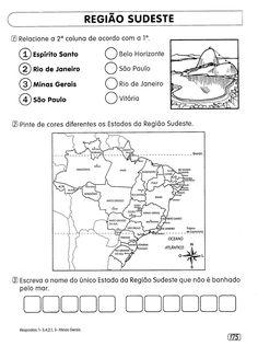 Rosearts- Atividades para imprimir: REGIÕES BRASILEIRAS - ATIVIDADES DE GEOGRAFIA