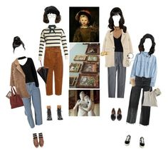 Let's Meet At The Museum by silentmoonchild on Polyvore featuring polyvore fashion style H&M Tabula Rasa Boohoo Sans Souci Exclusive for Intermix MANGO RE/DONE Hillier Bartley Rachel Comey Vans Aspinal of London Chloé Thom Browne clothing