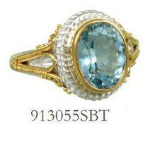 Blue Topaz ring  - Eucalyptus Island Collection