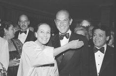 Fashion designer Oscar de la Renta and actress Dolores del Rio are shown at the Casita Maria Benefit dinner at the Pierre Hotel in New York, May 7, 1981.