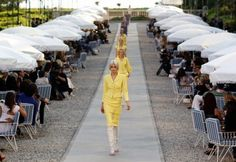 Chanel: Runway Design « resort 2012 (If we have the show by the pool this would be a good idea)