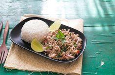 Insalata di maiale piccante: ricetta thai