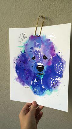 Poodle || Leia the Poodle || Standard Poodle || Poodle Art || Dog Art…