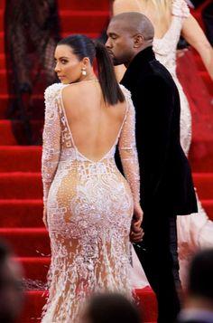 kim kardashian met gala 2015 back - Google Search