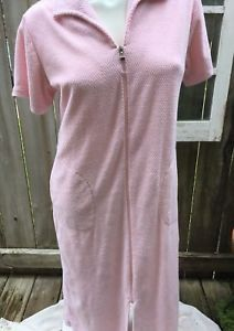 Miss Elaine Pink Floral Knit Cotton Short Gown 3X NWT
