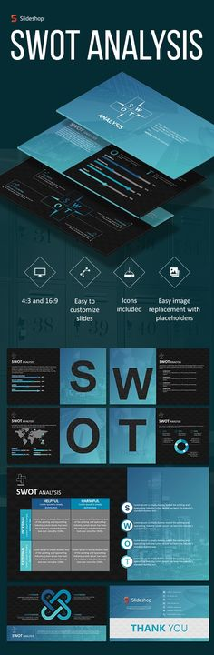 Buy SWOT Analysis A by Slideshop on GraphicRiver. A highly editable presentation template. Presentation format in .pptx Users will received two presentation file sizes. Professional Powerpoint Templates, Powerpoint Themes, Business Powerpoint Templates, Powerpoint Designs, Presentation Format, Presentation Templates, Organizational Chart, Diagram Design, Swot Analysis