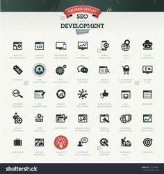 Seo And Development Icon Set Stock Vector Illustration 137267894 : Shutterstock