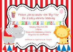 Carnival Themed Baby Shower Invitationscarnival Themed Baby Shower