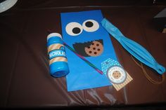 cookie monster party favor bag
