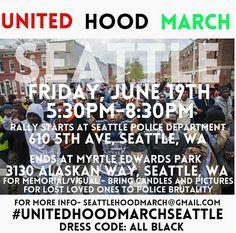 Seattle Gangs Unite to March Downtown Tomorrow #UnitedHoodMarchSeattle