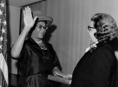 African American History and Women Timeline 1960-1969: Mrs. Frankie Muse Freeman sworn in, 1964