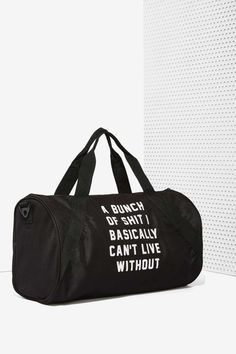 Danielle Guizio Important Sh*t Duffel Bag - Bags + Backpacks | Back In Stock | Accessories | All