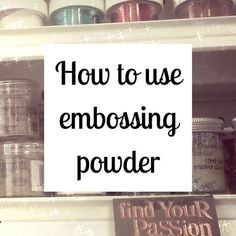How to Use Embossing Powder - - By Nicole Tinkham Rubber stamping is BIG right now especially with the holiday season right around the corner. Whether you're an experienced stamper or new to the exciting craft, embossing powder i…. Card Making Tips, Card Making Tutorials, Card Making Techniques, Making Ideas, Art Techniques, Card Tricks, Form Design, Embossing Techniques, Rubber Stamping Techniques