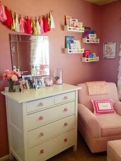 Pretty in Pink: 55 Pink Nurseries – Project Nursery - Modern Nursery Twins, Baby Boy Nurseries, Nursery Themes, Pink Nurseries, Nursery Ideas, Baby Rooms, Kids Rooms, Woodland Baby Nursery, Nursery Dresser