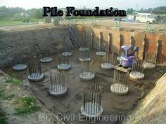 What is Pile Foundation ?, When Need Pile Foundation? , Types of Piles and Their Structural Characteristics. Deep Foundation, Types Of Foundation, Diploma In Engineering, Civil Engineering, Small Sectional, Soil Layers, Fish Plate, Reinforced Concrete, Petite Section