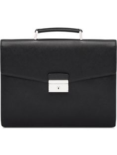cd745ec5b137 Shop Prada Saffiano Leather Briefcase Briefcase For Men, Leather Briefcase,  Prada Saffiano, Briefcases