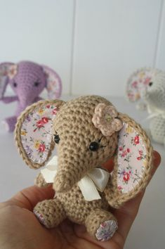 New pattern – Tiny luck elephant. For sale ༺✿Teresa Restegui http://www.pinterest.com/teretegui/✿༻